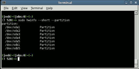 Ici, nous allons vérifier une commande qui peut être utilisée pour vérifier les partitions de votre système.